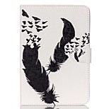 Feather Pattern PU Leather Full Body Case with Stand for iPad Mini 3/2/1