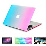 4 in 1 Rainbow Colorful Rubberized  Case +Keyboard Cover+Screen protector +Dust plug for MacBook Air 11