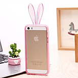 The New Rabbit EarsStand Transparent Green Material TPU Phone Case for iPhone 5/5S (Assorted Colors)
