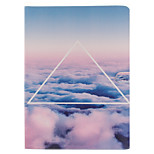 CHOI-WAN Triangle Pattern TPU Smart Model with Auto Sleep/Wake Function Case Cover for iPad Pro 12.9