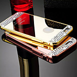 The New Luxury With diamond Plating Metal Frame Mirror Backplane Phone Case for iPhone 5/5S (Assorted Colors)