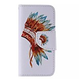 Feather Hat Painted PU Phone Case for iphone5C