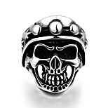 Ring Stainless Steel Skull / Skeleton Classic Punk Silver Jewelry Halloween Daily Casual Sports 1pc