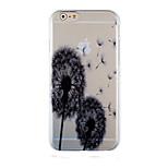 Dandelion Black Pattern Transparent Phone Case Back Cover Case for iPhone6/6S
