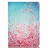 Plum Flower Pattern PU Material Flip Bracket Protective Case for iPad  Mini 4 (Assorted Colors)