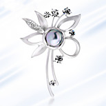 All-Match Flower Flower Fashion Temperament Pearl Brooch