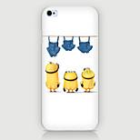 caso trío de dibujos animados patrón de teléfono pc caso de la contraportada para iPhone6 más / 6s más