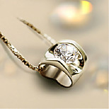 Heart-shaped necklace female contracted crystal pendant clavicle short chain fashion leisure