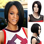 European and American Fashion Black Color Straight Wig