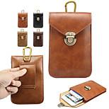 alta qualidade padrão cavalo louco de três camadas pu penduradas bolsos para iphone 6 / 6s (cores sortidas)