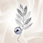 Fashion Mimosa All-Match Pearl Brooch