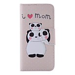 The New Panda PU Leather Material Flip Card Cell Phone Case for iPhone 6 /6S
