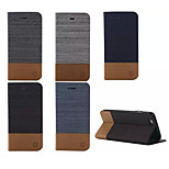 Luxury Flip Canvas Leather Case With Wallet Card Slot Holder For iPhone 6 Plus/6S Plus (Assorted Colors)