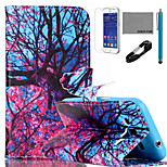 COCO FUN® Big Tree Flower Pattern PU Leather Case with V8 USB Cable, Flim and Stylus for Samsung Galaxy Core Prime G360