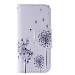The New Dandelion PU Leather Material Flip Card Cell Phone Case for iPhone 5 /5S