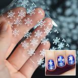 2016 Christmas Snowflake Stickers White Light Snow Transfer Printing Paste Star Paper Bottled 4 * 100