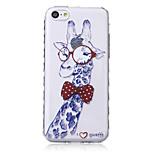 Giraffe Pattern Waves Slip Handle TPU Soft Phone Case for iPhone 5C