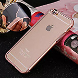 Backplane Metal Frame Transparent PC Phone Case for iPhone 6/6S (Assorted Colors)