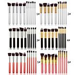 10pcs/set Makeup Brushes Powder Foundation Eyeshadow Eyeliner Lip Brush Set