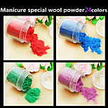 1Pcs The Whole Network Selling High-Quality Velvet Nail Polish Manicure Fluff Powder 24 Colors Optional