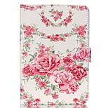 Rose Pattern PU Leather Full Body Case with Stand for iPad Mini 3/2/1