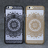 Retro Flower Pattern Openwork Relief Printing Thin PC Material Phone Case for iPhone 6/iPhone 6S(Assorted Colors)