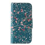 la nuova carta ruotabile materiale caso di telefono cellulare rosso prugna cuoio dell'unità di elaborazione per il iphone 5 / 5s