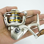 Mini Metal Fishing Spinning Reel ,10 Ball Bearing Gear Ratio 5.2:1 Interchangeable Handle