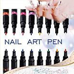 1Pcs DIY Nail Art Pen Manicure Tools Paint Pen Dotted Arrows Pen (16 kinds Of Color Can Be Choose)