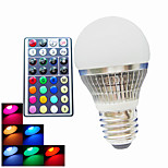 1 pcs SchöneColors E26/E27 / B22 4W 300LM RGB A50 Dimmable / Remote-Controlled / Decorative LED Globe Bulbs AC 100-240V