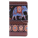 Elephant  Painted PU Phone Case for Huawei P8 Lite/P8