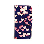 Colorful Heart PU Leather Full Body Case with Stand for iPhone 5/5S