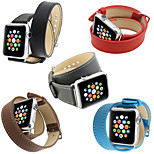 Genuine Leather Watchband Classic Buckle for Double-circle iWatch Watchband 38mm/42mm Assorted Colors