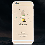Tree Seedlings Pattern Environmental Quality TPU Soft Phone Case for iPhone 6/6S