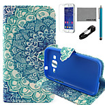 COCO FUN® Peacock Tail Pattern PU Leather Case with V8 USB Cable, Flim and Stylus for Samsung Galaxy Core Prime G360