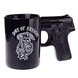 LYGF Creative Personality Cup Gun Shape Appearance Handle Black