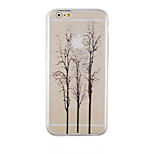 The Trees Black Pattern Transparent Phone Case Back Cover Case for iPhone6/6S