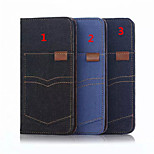 Newest Flip Cover Wallet Case Card Slot Support Retro jean Mobile Phone Shell for iphone6/6S 4.7 Assorted Colors