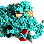 Blue Flash Powder Resin Bow Manicure Resin Accessories(1Set=50)