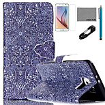 COCO FUN® Retro Pattern Pattern PU Leather Case with V8 USB Cable, Flim, Stylus and Stand for Samsung Galaxy S6 edge