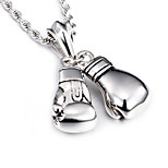 2016 New Design 316L Stainless Steel Power Boxing Fist Pendant Necklace Fashion Collar Long Chain Necklaces For Men