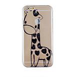 Black Deer Pattern Transparent Phone Case Back Cover Case for iPhone6/6S