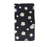 Printed Daisy PU Leather Wallet Full Body Case with Stand for Sony Xperia M4 Aqua