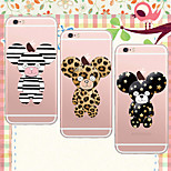 MAYCARI®A Cute Bear Soft Transparent TPU Back Case for iPhone 6/iphone 6S(Assorted Colors)