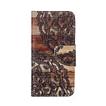 Decorative Pattern Pattern Card Stand Leather Case for iPhone 6/6S