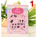 (20Pcs/Package) Nail Stickers Temporary Tattoos Stickers  Non Toxic Glitter Waterproof