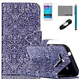 COCO FUN® Retro Pattern Pattern PU Leather Case with V8 USB Cable, Film and Stylus for Samsung Galaxy J1