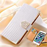 portefeuille de luxe carte cristal bling étui en cuir PU strass couvercle de téléphone pour iPhone / 6s 6 plus en plus (couleurs