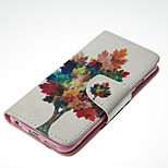 Tree Pattern Card Stand Leather Case for iPhone 6/6S