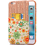 KARZEA™ Green Flower Pattern PU Leather Back Cover Case with Card Holder for iPhone 6/6S(Assorted Colors)